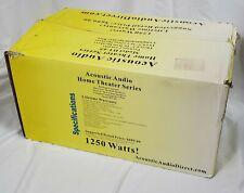 Acoustic Audio HT65 Speakers 5.1 Home Theater Speaker System White 1250 Watt