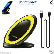 3-Coils Qi Wireless Charger Charging Stand Dock For Samsung S7 / S7 Edge Nexus 7