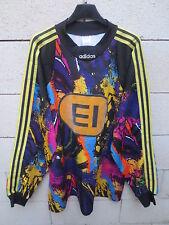 VINTAGE Maillot goal porté n°1 ADIDAS 1990 match worn shirt XL keeper portiere