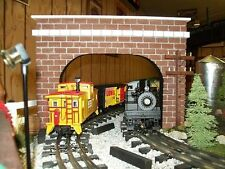 DOUBLE TRACK TUNNEL PORTALS /Model O GAUGE Railroad / Train Scenery / RR Layout
