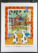 "Park Avenue Summer Festival 2012 Poster, Rochester, NY,  18 x 24"" New, Ave Fest"
