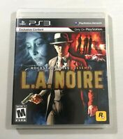 L.A. Noire PlayStation 3 2011 Complete with Manual