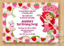10 Strawberry Shortcake Birthday Party Invitations Cute 1st 2nd 3rd 4th 5th 6th