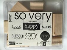 Stampin Up 2007 So Very Set Unmounted Wooden Rubber Stamps