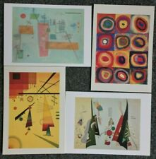 LOT OF 4 POSTCARDS OF KANDINSKY PAINTINGS