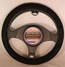 "Deluxe Ultra Suede Steering Wheel Cover in Black Fits 14.5-15.5"" Wheel CS 0131"