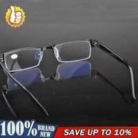 Half-frame Design Men&Women Metal Black Reading Glasses to +2.50 +1.00 New