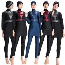 3pcs Women Burkini Swimwear Muslim Full Cover Swimsuit Modesty Beachwear Islamic