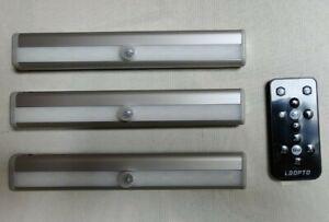 3x LED Kitchen Under Unit Cabinet Light Counter Strip Bar IR Remote Control Lamp