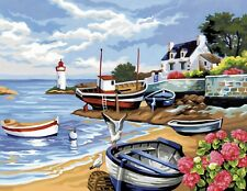 KSG Painting by Numbers Fishing Village 1035