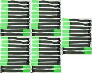 50x Kabelbinder Kabelklett SO 16 cm x 16 mm neon grün Klettband Klettkabelbinder