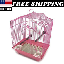 Bird Cage Kit Starter Set Perches Swing Feeders Scalloped Top Small Bird Small
