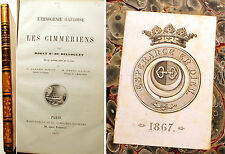 GAULE/LES CIMMERIENS/ETHNOGENIE GAULOISE/BARON DE BELLOGUET/1873/CONAN/RARE
