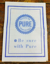 Hoovers Pure Oil Service Gas Station Asheville NC North Carolina Parking Receipt