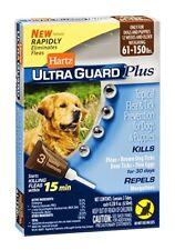 2Pack Hartz UltraGuard Plus Flea & Tick Drops for Dogs & Puppies 3 Tube Ea LOC9C