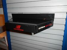 New Balance 3 Sided Black Plastic Slatwall Advertising Sign Store Display Shelf