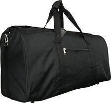 """22"""" Black Polyester Lightweight Duffel Bag / Dance / Gym / Shoulder carry-on"""