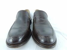 Mercanti Fiorentini Mens Loafers Dark Brown Leather Slip On Dress Sz 8 M Italy