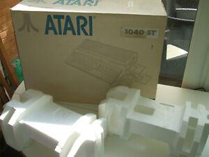 ATARI ST 520ST 1040ST STE ORIGINAL GENUINE COMPUTER BOX & POLYS INSERTS-NO ST's