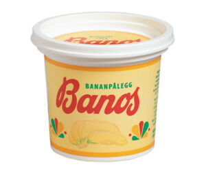 BANOS Banana spread 240 grs. box. Made in Norway since the 1930`s. Nice on toast