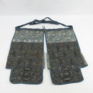 D1769: Really old iron Japanese HAITATE (thighs guard) of SAMURAI's armor YOROI