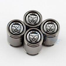 For Jaguar Accessories Air Dust Tire Tyre Valve Screw Caps Cover Titanium Style
