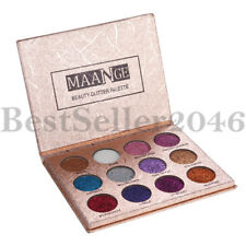 12 Colors Glitter Eyeshadow Palette Highly Pigmented Pro Eye Shadow Makeup Kit