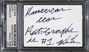 Mike Tyson Signed Card PSA/DNA COA Boxing American Icon Autographs Inscription