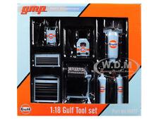 6PC GARAGE SHOP TOOLS SET GULF OIL 1/18 DIECAST REPLICA BY GMP 18872