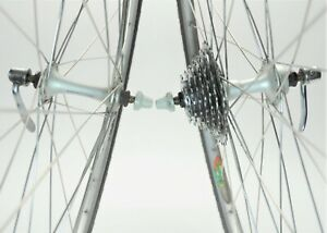 SHIMANO 105 MAVIC UB 7 SPEED ROAD TOURING BICYCLE 700c WHEELS SET 126 MM