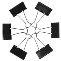 6pcs clips de carpeta de metal clip de papel suministros de oficina de papeleríK