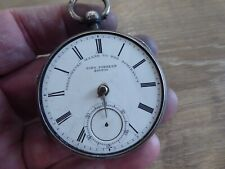 Gents Fusee Pocket Watch C1896 London John Forrest Antique Solid Silver