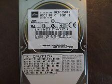 "Toshiba MK8025GAS HDD2188 C ZK01 T 610 A0/KA023A 80gb IDE 2.5"" Hard Drive"