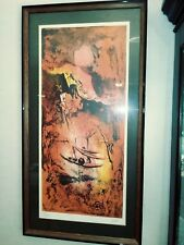 Hoi Lebadang framed Limited Edition Lithograph -hand signed and numbered 91/275-
