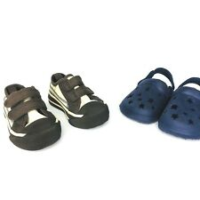 Gymboree Toddler Boys Size 3 Brown Blue Plaid And Blue Star Clogs Size 3