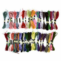 50x Multi Colors Cross Stitch Cotton Embroidery Thread Floss Sewing Skeins Tools