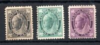 Canada 1897 QV 1c 1/2c & 2c mint or unused WS14030