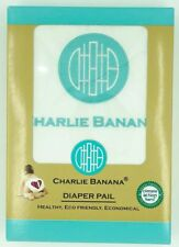 Charlie Banana Hanging Diaper Pail White Aqua Eco Friendly Waterproof