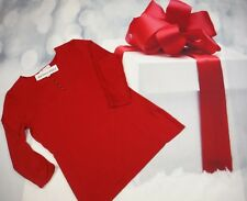 WHITE HOUSE BLACK MARKET KEYHOLE TOP SIZE LARGE RED BEAUTY CHRISTMAS BLOUSE