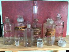 6 x Antique Pontilled Chemist / Apothecary / Poison Bottles circa 1880 - 1910