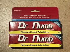2x Dr Numb 5% Lidocaine Cream 30 gr Skin Numbing Tatoo/Removal Waxing Piercing