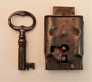 Antique Skeleton Bit Barrel Key Cabinet Trunk Chest Padlock Furniture Small