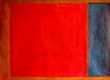 Stretched Brown Red and Blue Repro, Quality Hand Painted Oil Painting 36x48in