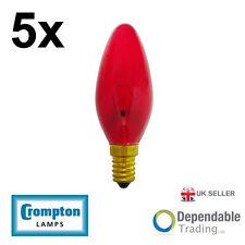 5 x Crompton 40w SES - E14 Fireglow Bougie Ampoule Lumière 35mm (FIRCAN40SES)