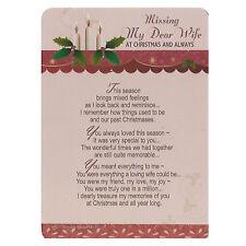 Memoria Amorevole Aperto presso la Tomba Natale Biglietto - My Dear Moglie