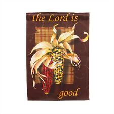 Thanksgiving The Lord is Good  Fall Harvest Corn, Indian Corn Small Garden Flag