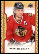 2014-15 UD MASTERPIECES FRAMED RED CLOTH PATRICK SHARP 041/100 CHICAGO