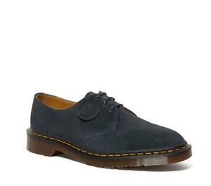 Dr Martens 1461 Made In England C.F Stead Suede Shoes Indigo Blue
