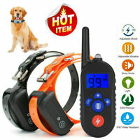 Pet Dog Training Shock E-Collar Waterproof Rechargeable Remote Control 330 yards