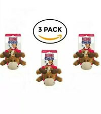 Cozie Marvin the Moose Squeak Dog Toy -3 PACK - small Kong